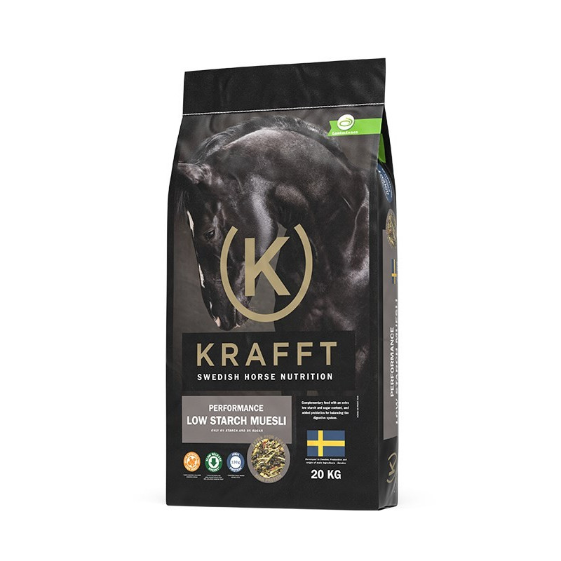 Krafft Performance Low Starch, Musli, 20 kg