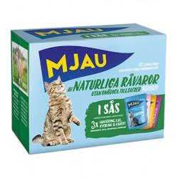 Mjau, Multipack kött och fisksmaker i sås 12*85gr