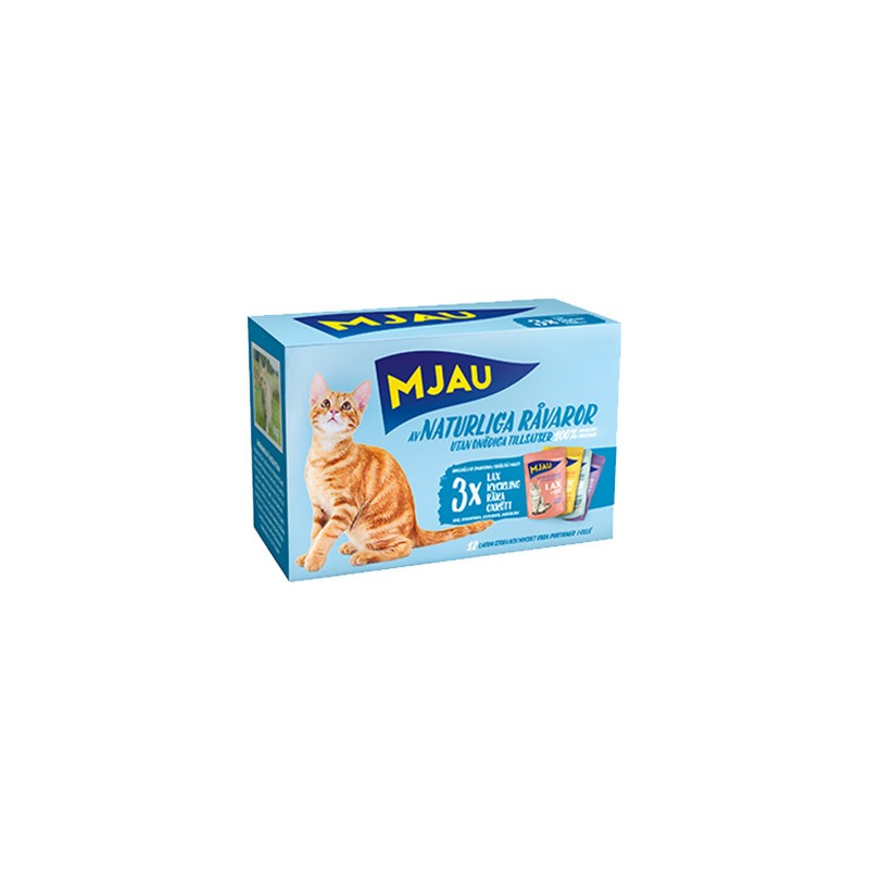 Mjau, Multipack kött och fisksmaker i gelé 12*85gr
